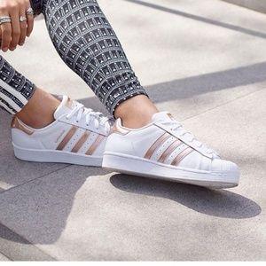 Adidas | Rose Gold Adidas Superstars